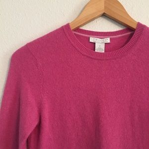Tweeds Pink Crewneck Cashmere Sweater Sz Small